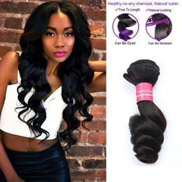 4 Bundles 7aBrazilian Loose Wave Virgin Hair Extensions Human Hair Weaves Double Weft Wavy Hair Bundles 8-28inch Gaga Queen Dyeable