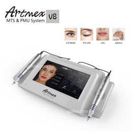 Wholesale 2017 New Intellignet Cosmetic Tattoo Permanent Makeup Machine Double Pen Digital micropigmentation Dermapen Artmex V8