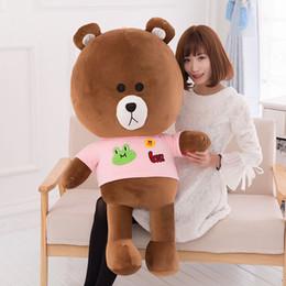 2017 Nouvelle Arrivée Giant Brown Teddy Bear Hug Sweater Tissu Poupées Unisex Peluche Peluche Marron Couleur Jouets Haute Qualité Cadeau à partir de étreindre jouets en peluche fabricateur