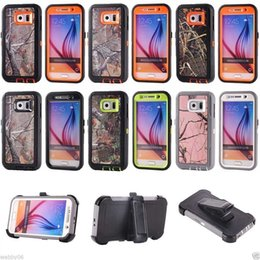 Outdoor Fashion Camouflag Tough Armor Hybrid Rugged Defender Cases Cover with Holster Belt Clip for Iphone 7 6s plus Samsung Galaxy S8 S7 S6