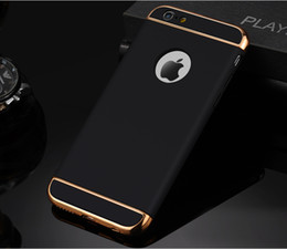 For iPhone Case 3 In 1 Combo Slim Hard Plastic Phone Cases For iPhone 6 Plus 6 6S Plus Shockproof Armor Cover