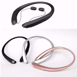 Top A+ Qualtiy CSR 4.1 HBS-910 Wireless Bluetooth Headset Headphone Earphone New HBS910 Sports Cell Smartphone Headsets Universal Use for LG