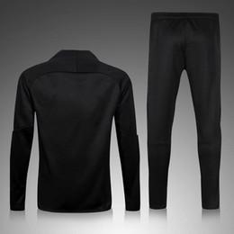 Machos negros en venta-16 17 Germain Negro Chándal con pantalones negro suéter chándal conjunto de entrenamiento Traje hombres Ropa Trackring trajes Hombre Hoodies mezcla orden