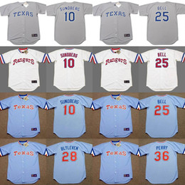 Wholesale 2017 Men s Texas Rangers JIM SUNDBERG BUDDY BELL BERT BLYLEVEN GAYLORD PERRY Throwback Baseball Jerseys Stitched