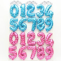 Wholesale 16inch Aluminum Balloons Pink Blue Color Alphabet Letters A Z and Arabic Number Foil Balloon Wedding Christmas Birthday Party Decoration