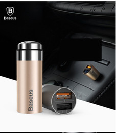 Wholesale Car charger dual U3 mobile phone car new aluminum smart car charger USB charger