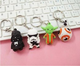 New Star Wars Darth Vader Porte-clés Keychain Cartoon YODA Black White Star Wars Figure d'action Jouets Porte-clés Dark Warrior Promotion Cadeau Noël à partir de fabricateur