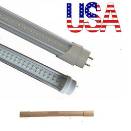 Wholesale Stock In US ft led t8 tubes Light W W W W mm Led Fluorescent Lamp Replace regular Tube AC V UL FCC