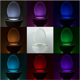 Wholesale Colorful toilet nightlight motion activated Bathroom Human Body Auto Motion Activated Sensor Seat Light Night Lamp Color Changes