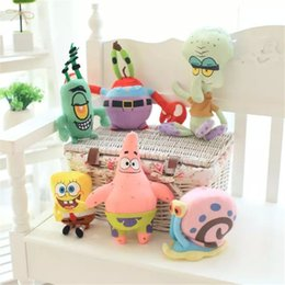 Wholesale Spongebob Set Stuffed Plush Sponge Bob Patrick Crab Plankton Octopus Snail Dolls Kids Toy Brinquedos For Children