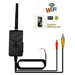 Wholesale AV video Wifi Transmitter W Waterproof wireless P2P fps SmartPhone realtime support IOS and Android System for car rear view camera
