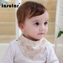 Wholesale kids Triangle Bib Bandana Burp Cloths Baby Cotton Kerchief Infant Saliva Bibs Pinafore Apron Baby Feeding