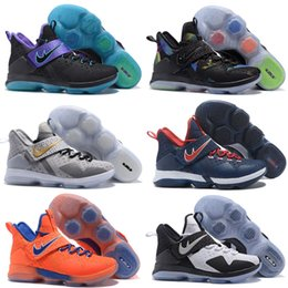 10 Boite de couleur (avec chaussures) James LeBron Zoom Soldier 14 Jeu Royal White Black Limited Chaussures pour hommes taille 7-12 à partir de soldats lebron noir fournisseurs