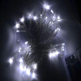 Descuento el mejor precio llevó las luces de navidad Venta al por mayor-Mejor precio de la batería de energía operado 4m 40 LED Navidad Fiesta de la boda de hadas Luz de decoración de la luz