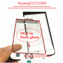 10pcs Original quality Front Outer Glass with Bezel Frame with oca For iPhone 5 5c 5s 6 6s plus 7  7 plus lcd repair part