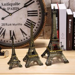 Promotion décor de zinc Cadeaux Créatifs 18cm 25cm 33cm Métal Art Artisanat Paris Tour Eiffel Figurine Modèle Zinc Alliage Statue Voyage Souvenirs Home Decor