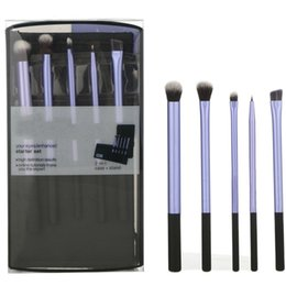 Wholesale set Professional beauty purple Real Makeup Brushes set Techniqu makeup brush for lip eye shadow powder maquiagem