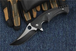 Wholesale New Arrival Flipper Folding Blade Knife S30V HRC Titanium Blade EDC Pocket Knife Survival Tactical Knives Ball Bearing System Lock Liner