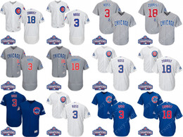 Wholesale 2016 World Series Champions patch Mens Chicago Cubs Jerseys David Ross Ben Zobrist Baseball Jersey cool base stitched Size S XL