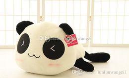 Promotion oreillers panda en peluche 30cm Panda poupée oreiller, panda jouet en peluche, peluche panda jouet ours ours en peluche poupée fille valentine