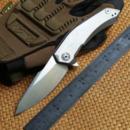Zero Tolerance ZT 0095 D2 blade titanium handle ceramic ball Bearing tactical flipper folding knife camp outdoor survival knives EDC tools
