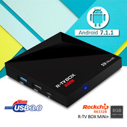 2017 mini boîte hd RK3328 R-TV BOX MINI + TV BOX Android 7.1 Quad core 1 Go 8 Go 4K HD media player USB 3.0 KODI 16.1 entièrement chargé tv box mini boîte hd offres