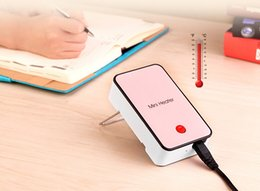Wholesale Newest Fashion Portable Mini fan heater hand Electric Air Warmer Heating Winter Keep Warm Desk Fan for Office Home