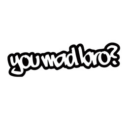 For You Mad Bro Sticker Funny Car Styling Drift Jdm Truck Car Window Bumper Art Vinyl Graphics Decals Accessories