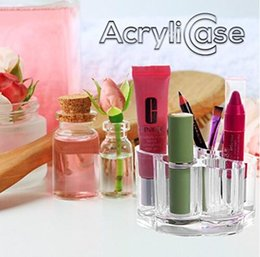 Acrylic Makeup Organizer, Flower Shaped Cosmetic Holder, 7 Slots, By AcryliCase