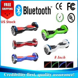 USA Stock Electric Scooter Bluetooth 8 Inch Bluetooth Hoverboard Electric Smart Self Balancing Scooter Unicycle Balance 2 Wheel