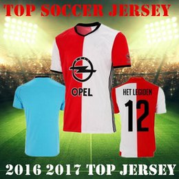 Wholesale 2016 Top Quality Soccer Jersey Feyenoord Football Shirts Kuyt Lex Immers Simon Kramer Home Away maillot de foot Feyenoord Man blue