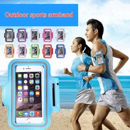 Wholesale 4 to inch mobile phones general cuff i7plus set of double buckle adjust the touch screen running arms package
