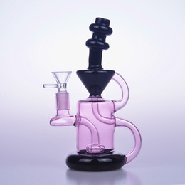 20cm tall small colorful water bongs glass pipes recycler oil rigs dab beaker quartz banger bowl bubbler perc 14mm white pink black