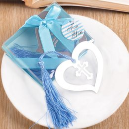 Wholesale wedding and the promotional activities of creative gift heart-shaped cross bookmarks free shipping 50 sets per lot
