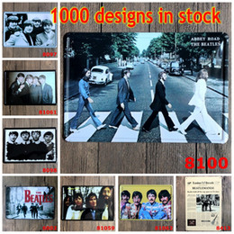 Wholesale The Beatles Vintage Tin Poster Music Band Singer Stars Metal Tin Signs Beatlemania Iron Painting cm Star Walls Decorative rjO