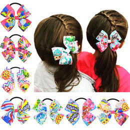 New ! cute cartoon shopping lipstickers hair tie gifts for baby hair bows with tie