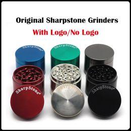 100% Original Sharpstone Grinders Metal Alloy Herb Grinders Tobacco Sharp stone Grinders 4Layers 40 50 55 63 75mm Big Grinder