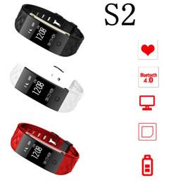 Mi bracelet de bande en Ligne-S2 Bluetooth Smart Band Wristband cardiofréquencemètre IP67 résistant à l'eau Bracelet Smartband pour Android IOS Téléphone pk mi bande 2 1s