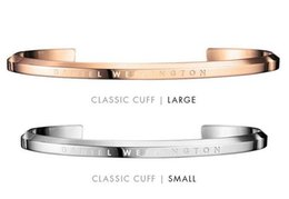 Wholesale 2016 new products Fashion Brand Lovers Bracelet strap Available For Daniel Wellington Watches Collocation Gold and silver DW Classic Cuff