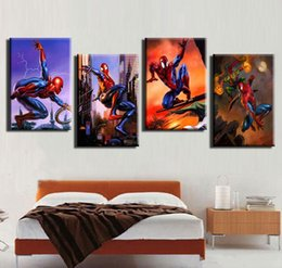 Wholesale No Frame Prints Painting Spiderman Printed Poster pieces Canvas Art Unframed Digital Printing Painting House Decoration x60cmx3pcs