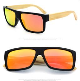 Wholesale High Quality Luxury sunglasses pilot bamboo sunglasses Fashion Handmade bamboo foot PC frame glasseswith wood box