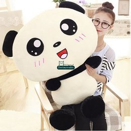 Promotion coussins en peluche farcis Dorimytrader New Funny Soft Big Animal Panda Plush Toy 110cm 47 '' Farcis Cartoon Pandas Doll Pillow Kids Présent DY60765