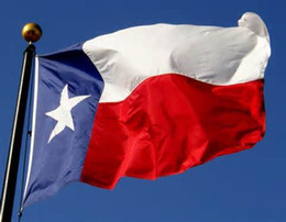 Wholesale High Quality Texas Flag cm ft Texans Banner Blue White Red Three Colors TX Oriflammes Stars State Flags Polyester Fiber qt