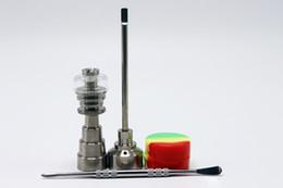 Wholesale High Quality Glass Bongs Tool Set mm mm mm Male Female Domeless Titanium Nail With Quartz Carb Cap Slicone Jar Smoking Accessories