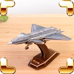 Compra Online Máquina cepilladora-New Year Gift J-20 J-11B 3D rompecabezas modelo de avión de la Fuerza Aérea militar de la máquina de la decoración de papel Puzzle Juguetes educativos DIY juego