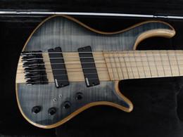 Guitare par en Ligne-Mayones custom bass guitare 6 cordes mayones fanned frets guitare basse électrique Maple fingerboard cou à travers le corps avec livraison gratuite