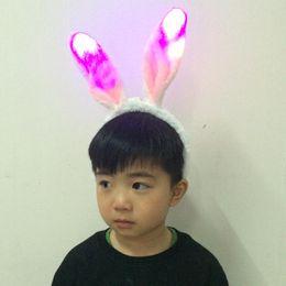 Rabbit Ear Head band Led Light Rabbit Ear Plush Headband Sexy Bunny Costume Animal Party Gifts