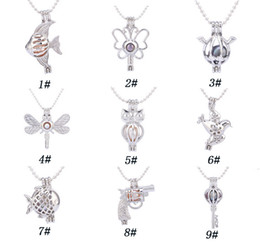 Mix style Pearl Cage Pendants Oyster Lockets For DIY handmade Pearl Pendant Necklace Jewelry Good Gift