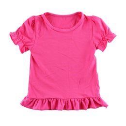 Summer Latest Lavender Cotton Children Girl Short Sleeve Kid T Shirt Tank Tops