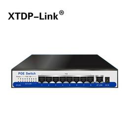 Gigabit poe switch 8 port 10 100 1000mbps rj45 lan hub ethernet switch 48V2A IEEE802.3af active poe for 8pcs 1080P HD poe camera